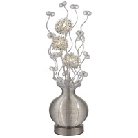 Lazelle 51 inch 1.5 watt Silver Table Lamp Portable Light