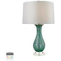 Aqua Swirl 27 inch 60 watt Aqua Swirl Table Lamp Portable Light in Dimmer, Hue LED, Philips Friends of Hue
