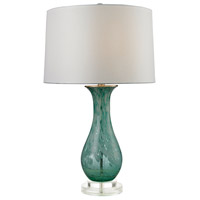 Dimond Lighting D2727 Swirl Glass 27 inch 150 watt Aqua Swirl Table Lamp Portable Light in Incandescent