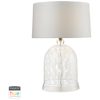 Dimond Lighting D2728-HUE-B Landscape 26 inch 60 watt Clear with White Table Lamp Portable Light