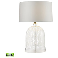 Dimond Lighting D2728-LED Bell 26 inch 9.5 watt Clear and White Table Lamp Portable Light in LED