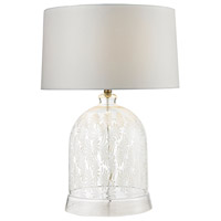 Bell 26 inch 150 watt Clear and White Table Lamp Portable Light in Incandescent