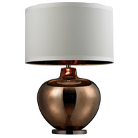 Dimond Lighting Signature 1 Light Table Lamp in Bronze and Coffee Glass and Steel D273