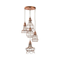 Signature 5 Light 14 inch Copper Pendant Ceiling Light