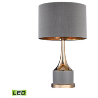 Dimond Lighting D2748-LED Gold Cone Neck 19 inch 9.5 watt Gold/Grey Table Lamp Portable Light in LED