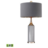 Dimond Lighting D2749-LED Gold Cone Neck 32 inch 9.5 watt Gold/Grey Table Lamp Portable Light in LED