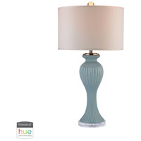 Dimond Lighting D2768-HUE-D Ribbed Tulip 32 inch 60 watt Gold with Mint Table Lamp Portable Light