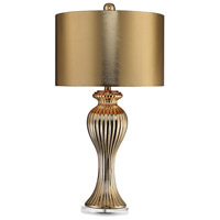 Dimond Ribbed Tulip 1 Light Table Lamp in Gold D2769M