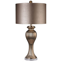 Ribbed Tulip 32 inch 100 watt Copper Table Lamp Portable Light in Incandescent
