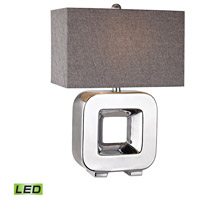 Open Cube 22 inch 9.5 watt Chrome Plating Table Lamp Portable Light in LED