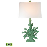 Coral 28 inch 9.5 watt Spearmint Table Lamp Portable Light in LED
