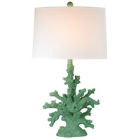 Coral 28 inch 100 watt Spearmint Table Lamp Portable Light in Incandescent