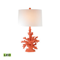 Coral 28 inch 9.5 watt Peach Table Lamp Portable Light in LED