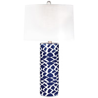 Dimond Lighting D2792 Scale Sketch 28 inch 100 watt Navy Blue and White Table Lamp Portable Light in Incandescent