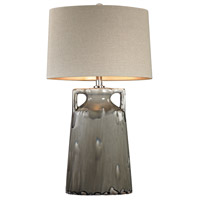 Dimond Lighting D2806 Grey Reaction Glaze Urn 30 inch 150 watt Grey Glaze Table Lamp Portable Light in Incandescent