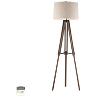 Dimond Lighting D2817-HUE-B Wooden Brace 62 inch 60 watt Oil Rubbed Bronze with Walnut Floor Lamp Portable Light