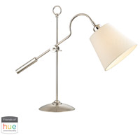 Colonial 22 inch 60 watt Polished Nickel Desk Lamp Portable Light