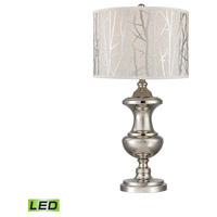 Spun Metal 30 inch 9.5 watt Polished Nickel Table Lamp Portable Light in LED