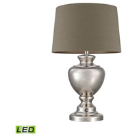 Spun Metal 29 inch 9.5 watt Polished Nickel Table Lamp Portable Light in LED