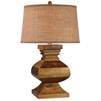 Dimond Lighting D2870 Carved Wood Post 29 inch 150 watt Dark Russian Oak Table Lamp Portable Light in Incandescent