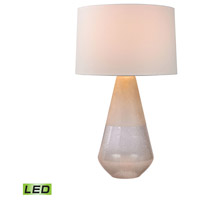 Two Tone Glass 29 inch 9.5 watt Clear Table Lamp Portable Light in LED