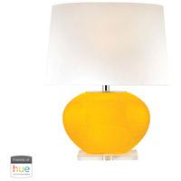 Dimond Lighting D2873-HUE-B Signature 25 inch 60 watt Yellow Table Lamp Portable Light