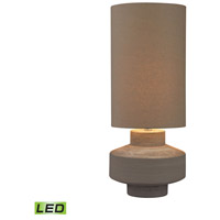 Dimond Lighting D2874-LED Geometric Brutalist 26 inch 9.5 watt Grey Clay Table Lamp Portable Light in LED