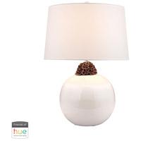 Dimond Lighting D2881-HUE-B Signature 27 inch 60 watt Brown with White Table Lamp Portable Light