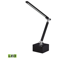 Dimond Lighting Signature Tilting Bar 1 Light LED Task Table Lamp in Black and Chrome with Black Metal Shade D2882