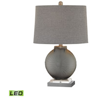 Simone 23 inch 9.5 watt Grey and Pewter Table Lamp Portable Light