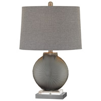 Simone 23 inch 100 watt Grey and Pewter Table Lamp Portable Light