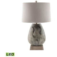 Haarlem 15 inch 9.5 watt Storm Grey and Pewter Table Lamp Portable Light