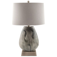 Haarlem 15 inch 100 watt Storm Grey and Pewter Table Lamp Portable Light