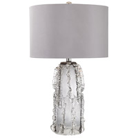 Palais 27 inch 100 watt Grey Smoke Table Lamp Portable Light