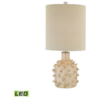 Kankada 21 inch 9.5 watt Cumberland Cream Crackle Table Lamp Portable Light