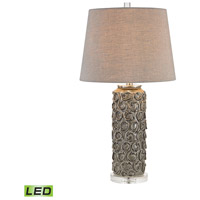 Dimond Lighting Rosette 1 Light Table Lamp in Grey Glaze D2919-LED