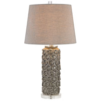Dimond Lighting Rosette 1 Light Table Lamp in Grey Glaze D2919