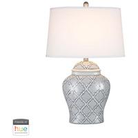 Dimond Lighting D2920-HUE-D Aragon 28 inch 60 watt Blue with White Glaze Table Lamp Portable Light