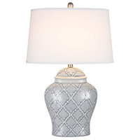 Dimond Lighting Aragon 1 Light Table Lamp in Blue And White Glaze D2920