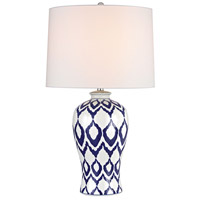 Kew 31 inch 150 watt Blue And White Glaze Table Lamp Portable Light in Incandescent