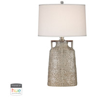 Naxos 34 inch 60 watt Charring Cream Glaze Table Lamp Portable Light