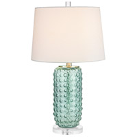 Caicos 25 inch 100 watt Green Table Lamp Portable Light