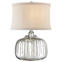 Dimond Lighting Nassau 1 Light Table Lamp in Antique Silver Mercury D2927
