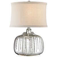 Dimond Lighting D2927F Nassau 24 inch 150 watt Antique Silver Mercury Table Lamp Portable Light, without Necklace