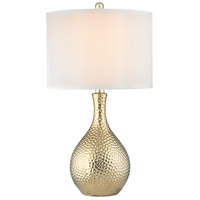 Soleil 22 inch 100 watt Gold Plate Table Lamp Portable Light