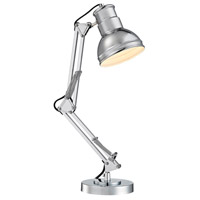 Newman 15 inch 40 watt Chrome Table Lamp Portable Light