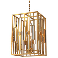 Golden Gate 1 Light 15 inch Gold Leaf & Clear Pendant Ceiling Light