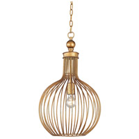Dimond Lighting D2985 Five Cays 1 Light 13 inch Gold Leaf Pendant Ceiling Light