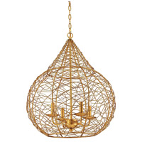Tendrils 1 Light 22 inch Gold Leaf Pendant Ceiling Light