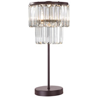 Dimond Antoinette 1 Light Table Lamp in Bronze & Clear D3014